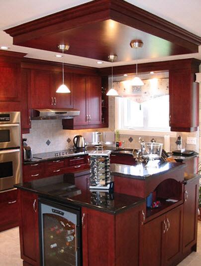 armoires de cuisine et essences de bois. Black Bedroom Furniture Sets. Home Design Ideas